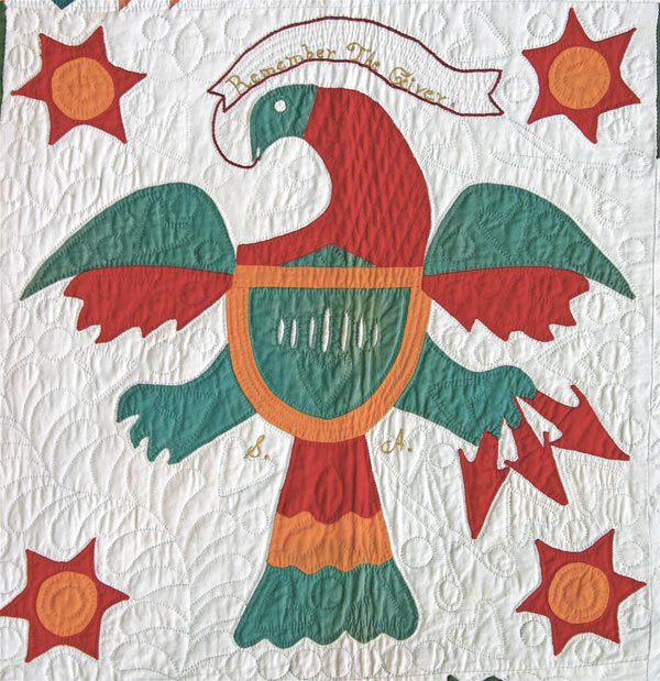 Peter Shank Quilt Detail: Miami Valley Eagle