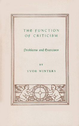 Cover of 'Function of Criticism'