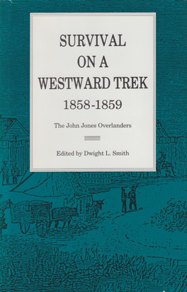 Cover of 'Survival On a Westward Trek, 1858–1859'