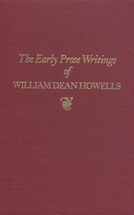 Cover of 'Early Prose Writings of William Dean Howells, 1852–1861'