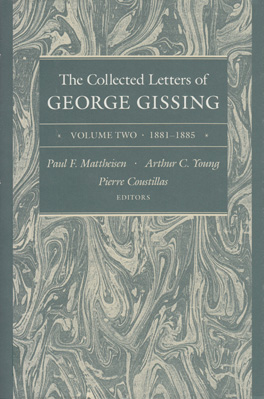 Cover of 'The  Collected Letters of George Gissing Volume 2'