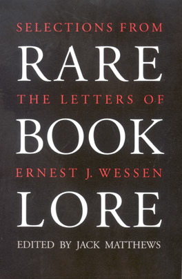 Cover of 'Rare Book Lore'