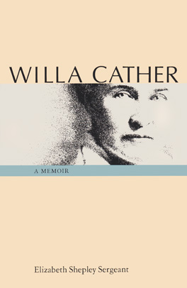 Cover of 'Willa Cather'