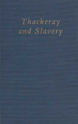 Cover of Thackeray and Slavery