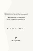 Cover of Heidegger and Whitehead