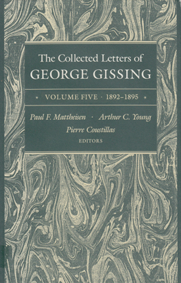 Cover of 'The  Collected Letters of George Gissing Volume 5'