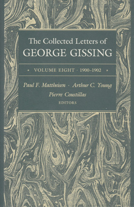 Cover of 'The  Collected Letters of George Gissing Volume 8'