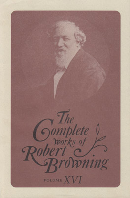 Cover of 'The Complete Works of Robert Browning, Volume XVI'
