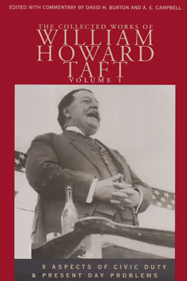 Cover of 'Collected Works of William Howard Taft, Volume I'