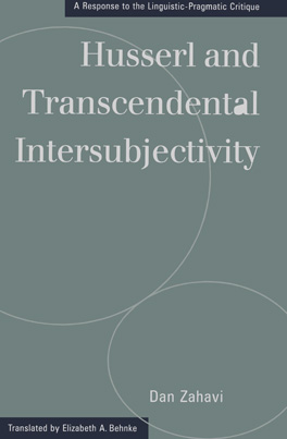 Cover of 'Husserl and Transcendental Intersubjectivity'
