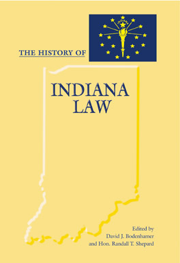 Cover of 'The History of Indiana Law'