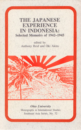 Cover of 'The  Japanese Experience in Indonesia'