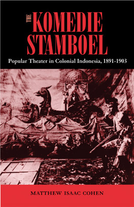 Cover of 'The Komedie Stamboel'