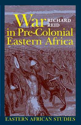 Cover of War in Pre-Colonial Eastern Africa