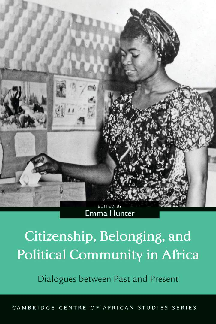 Cover of 'Citizenship, Belonging, and Political Community in Africa'
