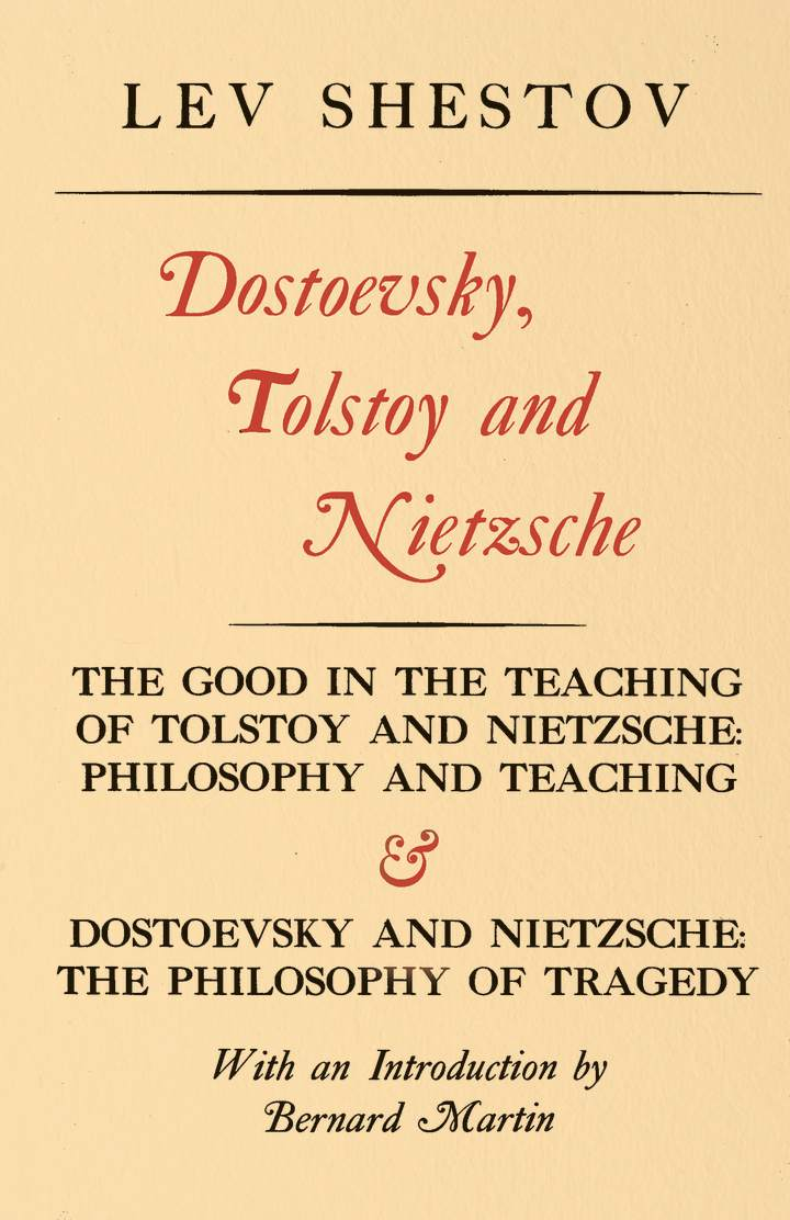 Cover of 'Dostoevsky, Tolstoy, and Nietzsche'