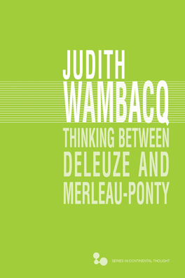 Cover of 'Thinking between Deleuze and Merleau-Ponty'